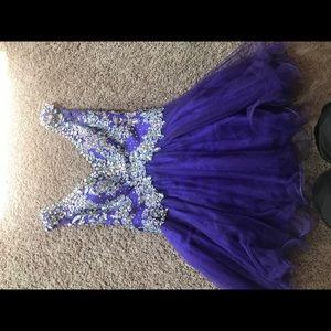 MacDuggal Short Purple Prom/ Pageant dress